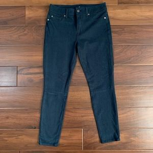 7 For All Mankind Blue Suede Ankle Skinny Pants